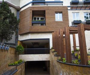 نمای چوبی ساختمان با ترمووود