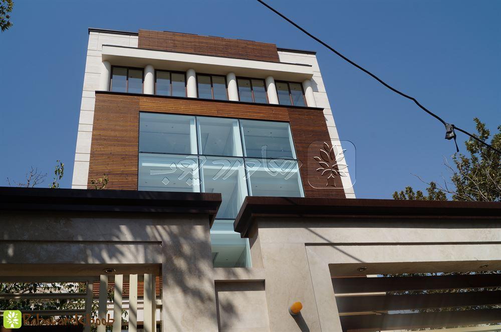 اجرای نمای چوبی ساختمان مسکونی بلوار آفریقا