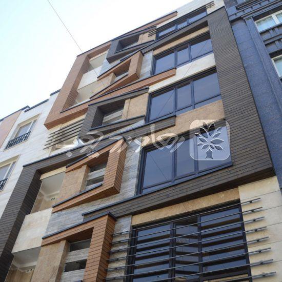 نمای چوبی ساختمان مسکونی در گیشا