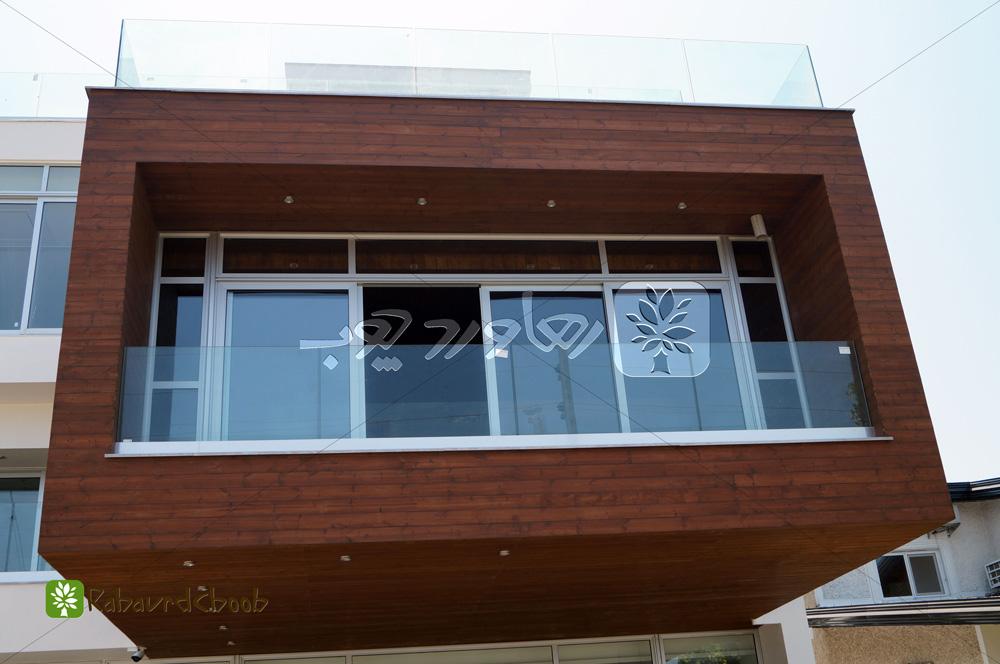 نصب ترمو وود در نمای خارجی ساختمان