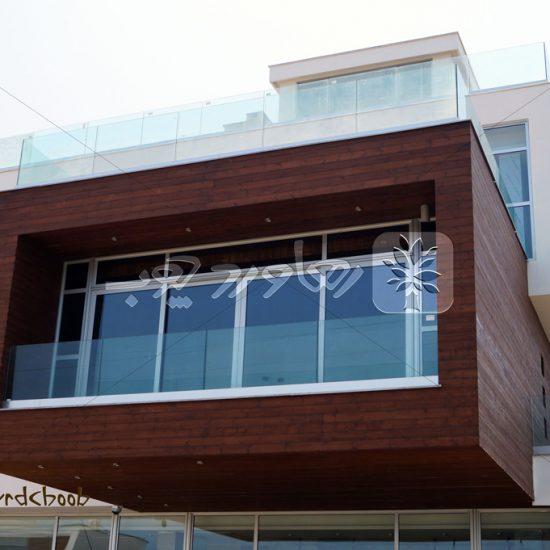 اجرای ترموود در نمای خارجی ساختمان پروژه یزدشهر – شهرک پزشکان