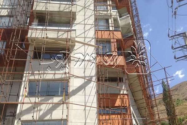 اصلاح رنگ چوب نمای ساختمان