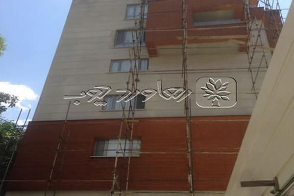 اصلاح رنگ چوب ترمو نمای ساختمان