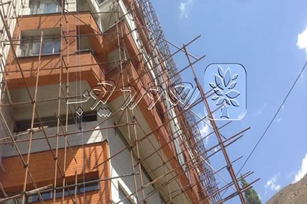 مرمت رنگ چوب نمای ساختمان