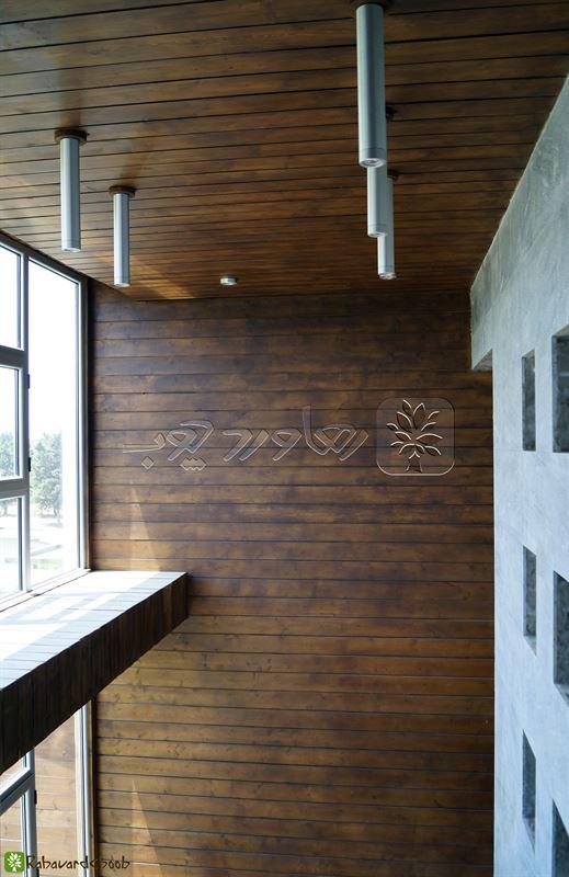 دیزاین داخل خانه با چوب ترمو
