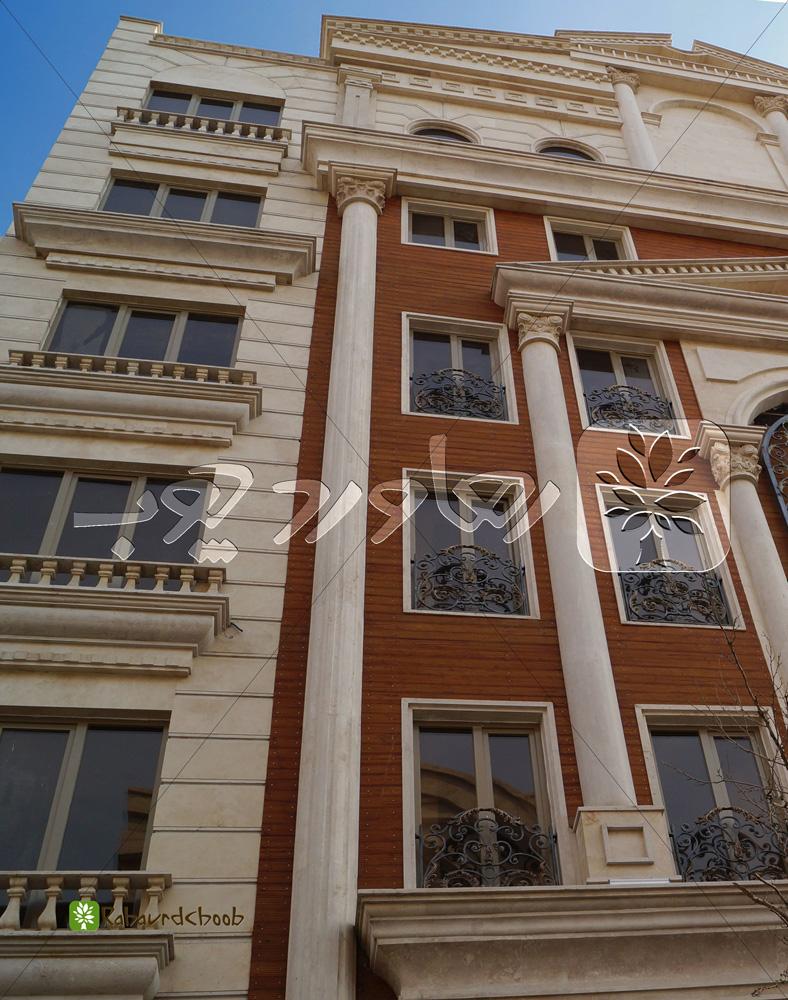 ترووود رنگ عسلی کرا شده در نمای خارجی ساختمان
