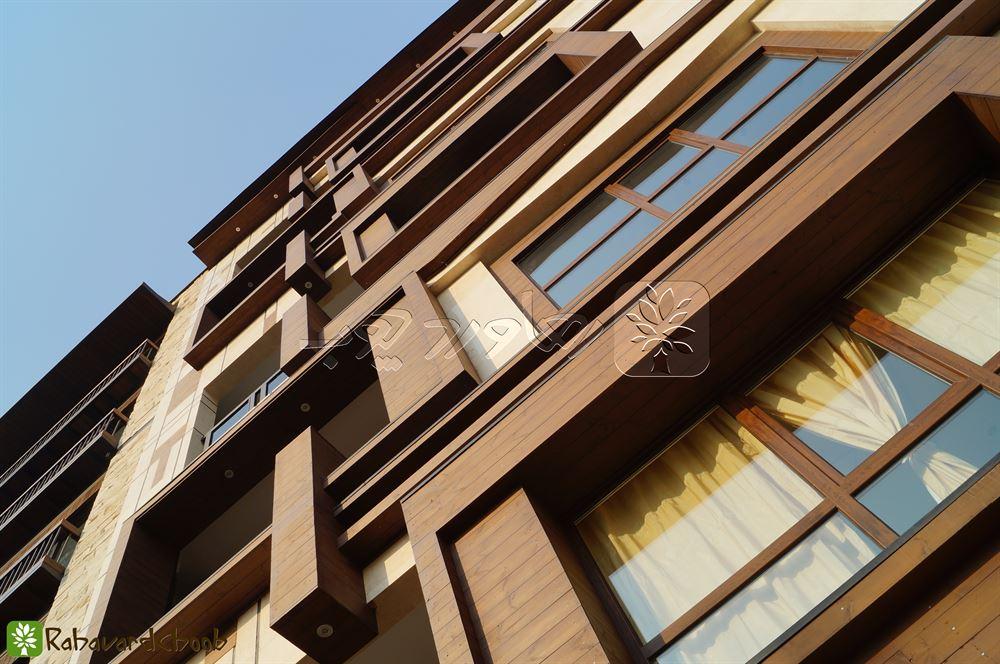 نمای چوبی آپارتمان مسکونی در خواجه عبدااله
