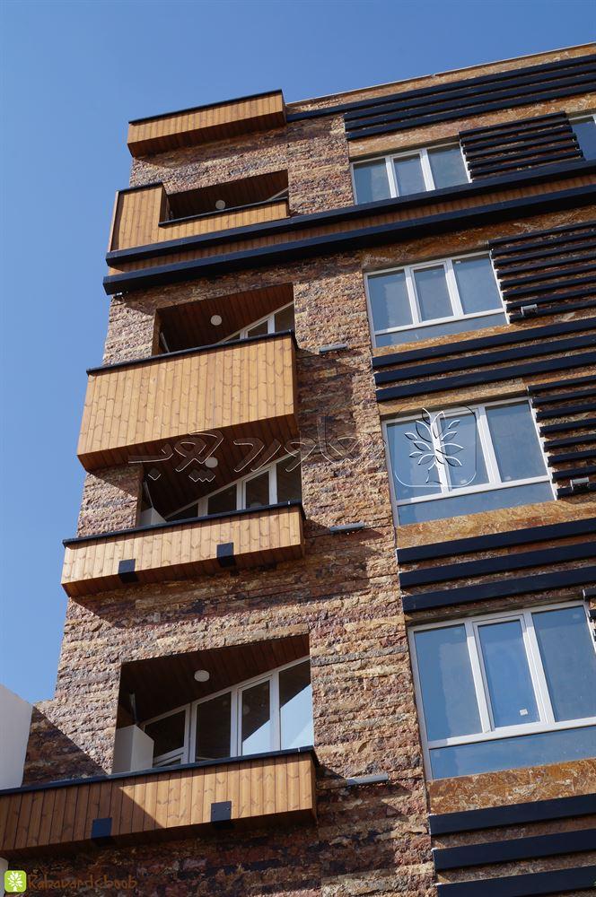 چوب نمای ساختمان