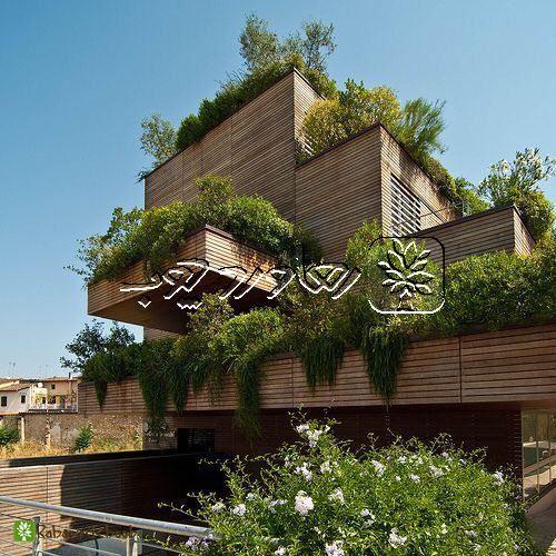 تزیین نمای ساختمان با استفاده از ترمو وود