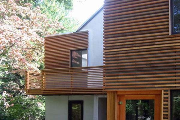 اجرای نمای چوبی در خانه