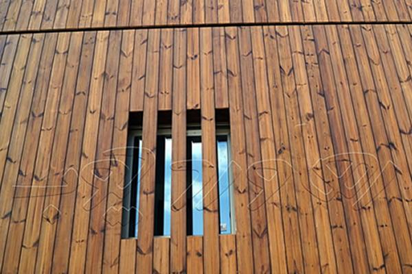 اجرای نمای چوب با ترمو وود