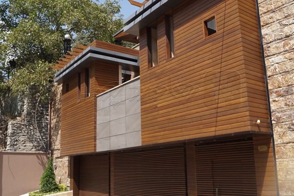 چوب ترمو جهت نمای ساختمان
