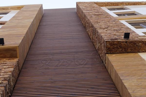 اجرای نمای چوب با ترمووود