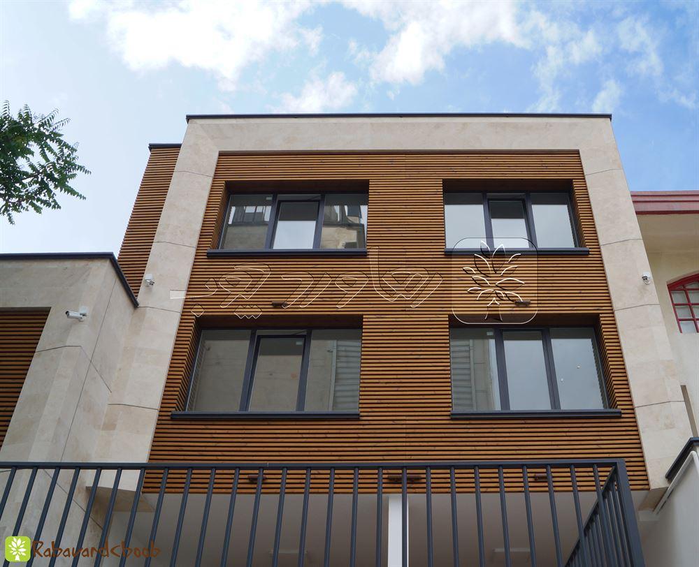 نمای ترموود ساختمان کار شده در ولنجک