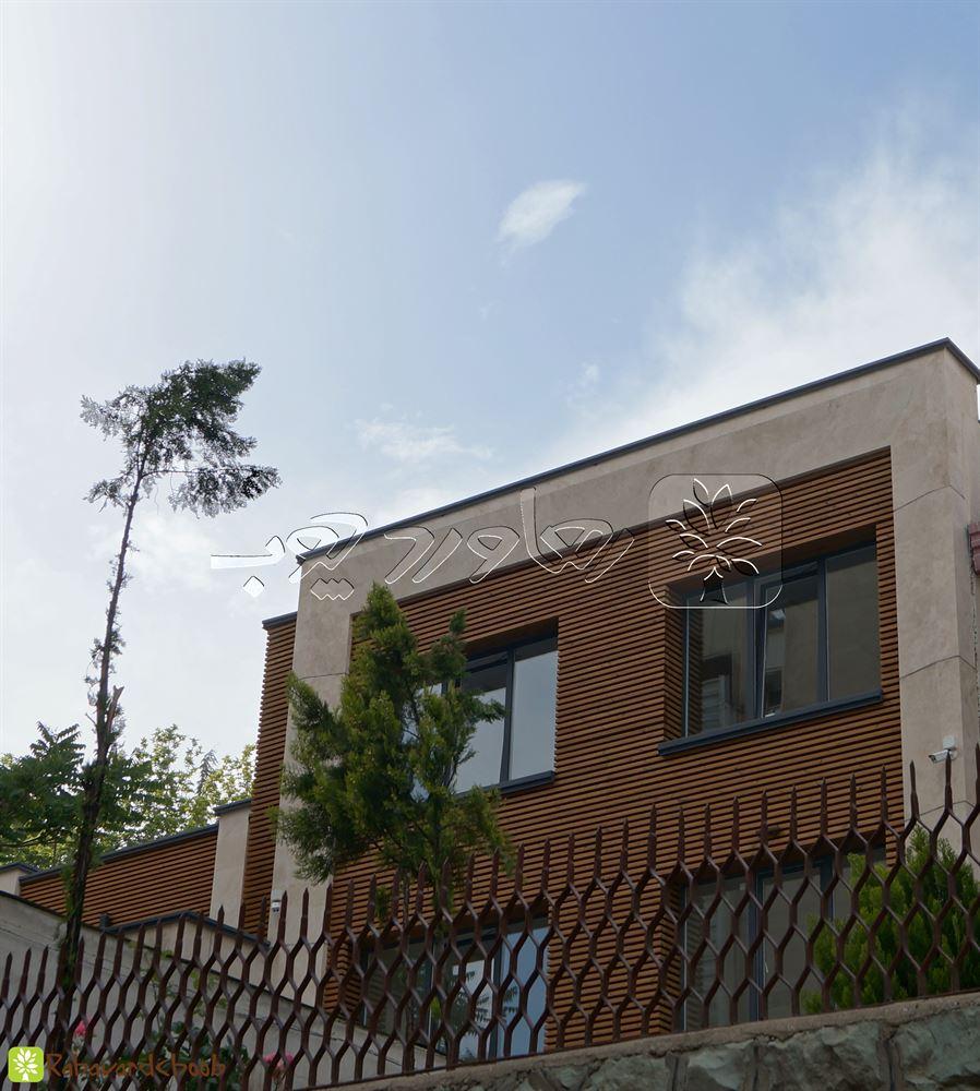 نمای چوبی ساختمان از کار شده در ولنجک