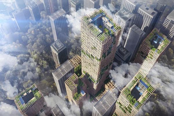 بلندترین ساختمان چوبی جهان