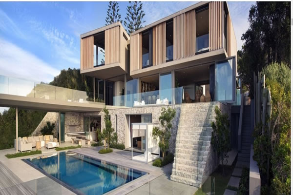 نمای چوبی در طراحی خانه مدرن
