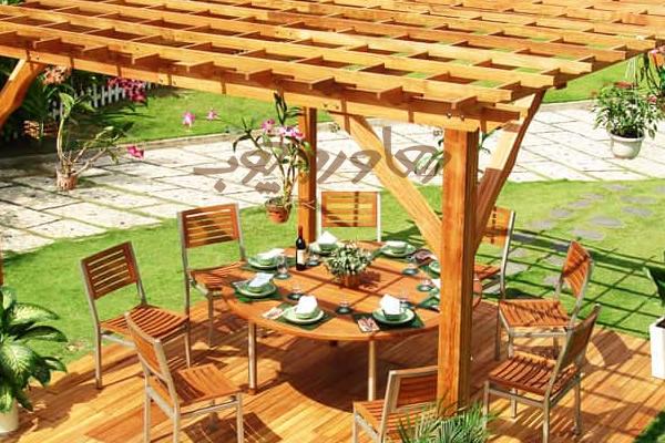 آلاچیق سنتی چوبی
